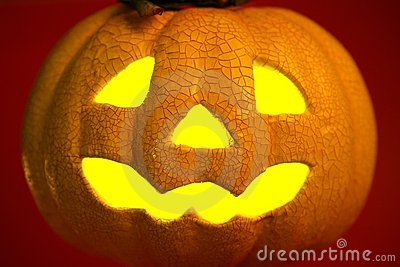 Orange halloween pumpkin
