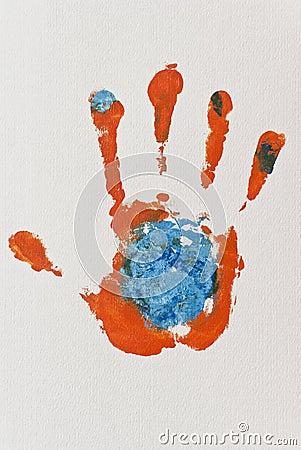Orange Hand-print