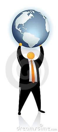 Free Orange Head Lift Up A Globe Earth Royalty Free Stock Photography - 8021807