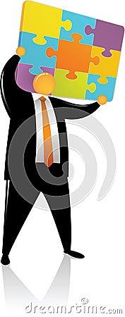 Orange Head Lift up Puzzle Color