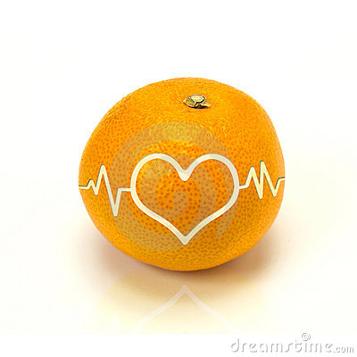 Orange heart shape