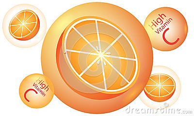 Orange high vitamin C vector