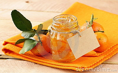 Orange homemade jam marmelade