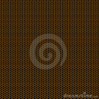 Orange Honeycomb grid background