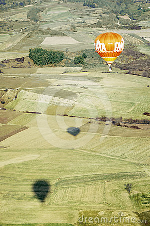 Orange hot air Balloon Editorial Stock Image