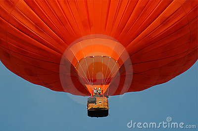 A orange hotair balloon