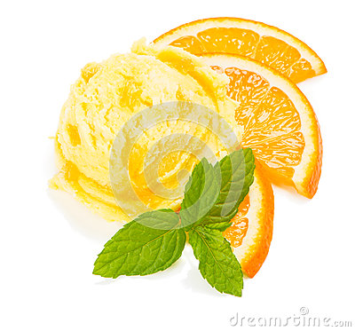Free Orange Ice Cream Royalty Free Stock Images - 55154699