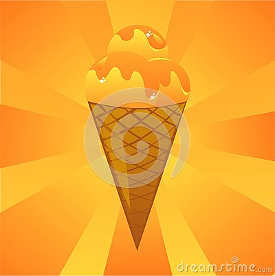 Orange ice-cream background