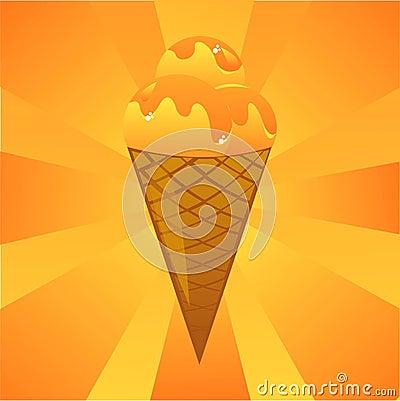 Orange ice-cream background