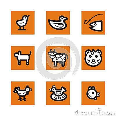 Orange icon series