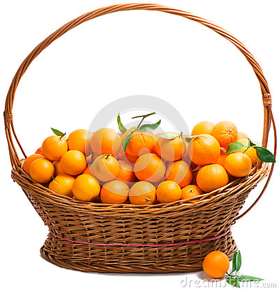 Free Orange In A  Basket Stock Photos - 37610013
