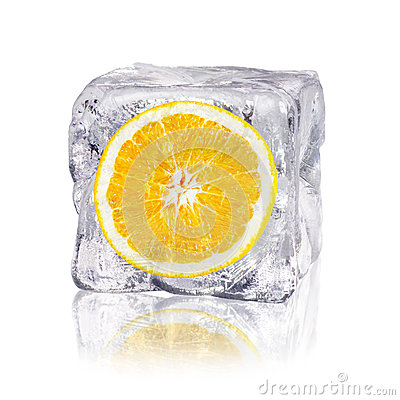 Free Orange In An Ice Cube Royalty Free Stock Photos - 33150458
