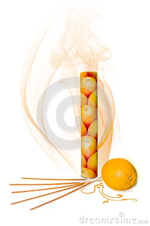 Orange incense
