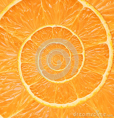 Free Orange Infinity Spiral Abstract Background. Royalty Free Stock Photo - 38912685