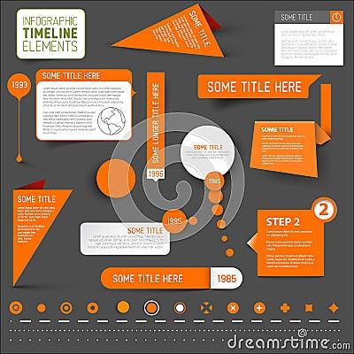 Free Orange Infographic Timeline Elements On Dark Background Royalty Free Stock Photos - 41845198