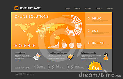 Orange Infographics website