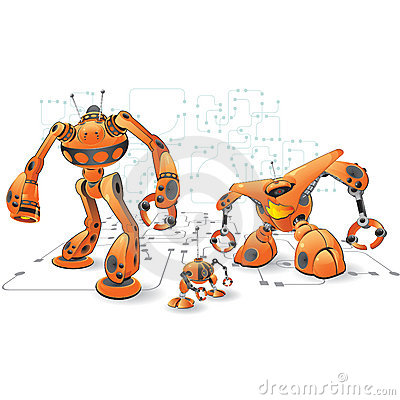 Orange internet robots Editorial Photography