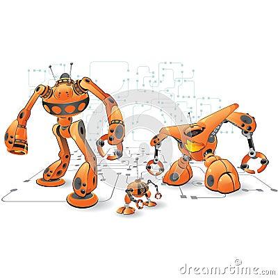 Orange internet robots Editorial Photography