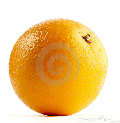 Orange isolated on a white