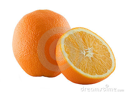 Orange and its half