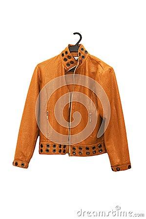 Orange jacket isolated