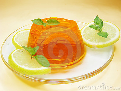 Orange jelly dessert