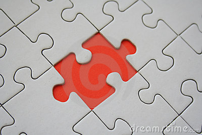Orange jigsaw element