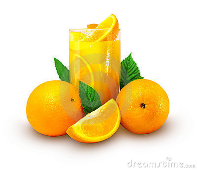 Orange juice with fruits