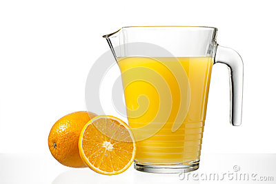 Orange juice in jug