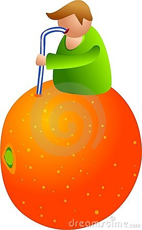 Orange juice man