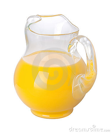 Orange Juice Pitcher (with clipping path)