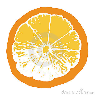 Orange juice slice