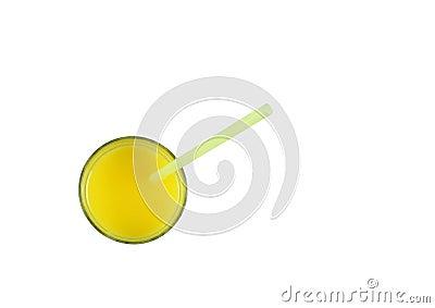 Orange juice and straw