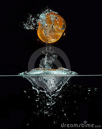 Free Orange Jumping Out Of The Water Stock Image - 14935051