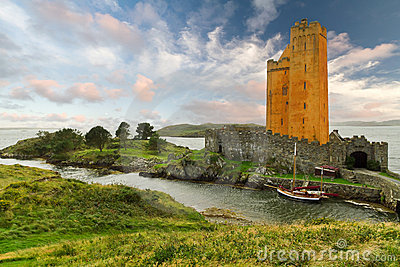 Orange Kilcoe castle