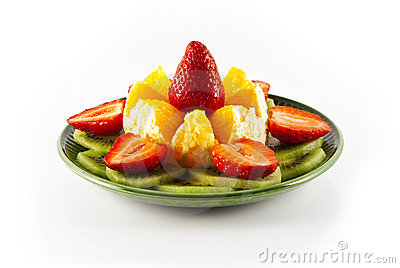Orange, kiwi and strawberry
