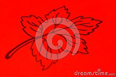 Orange leaf drawing