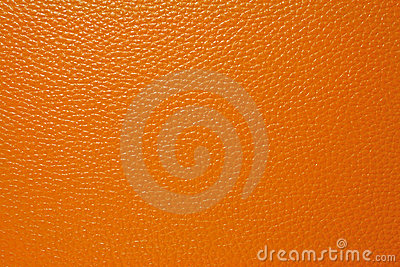 Orange leather