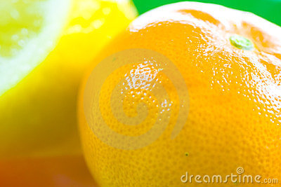 Orange and lemon fruit