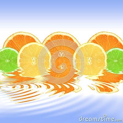 Orange, Lemon and Lime Abstract