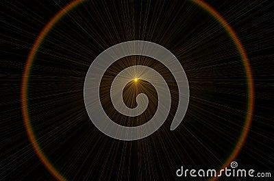 Orange lens flare