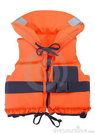 Free Orange Life Jacket Royalty Free Stock Image - 3446306