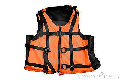 Orange life vest isolated