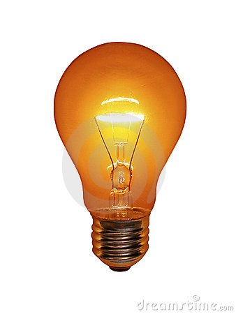Free Orange Light Bulb Stock Photos - 4974673