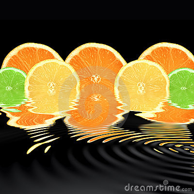 Free Orange, Lime And Lemon Abstract Stock Image - 6991541