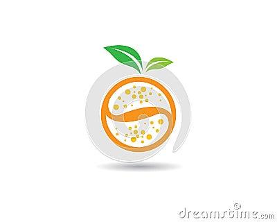 Orange logo template Vector Illustration