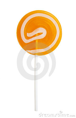 Orange lollypop