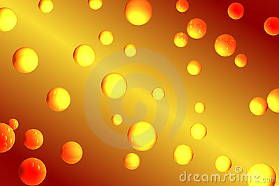 Orange Luftblasen