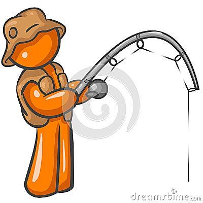 Free Orange Man Fishing Stock Photo - 5669040