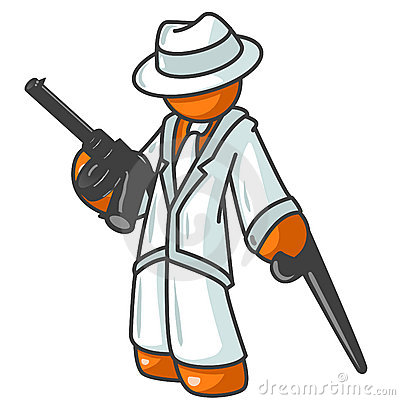 Free Orange Man Gangster Royalty Free Stock Photo - 4142025